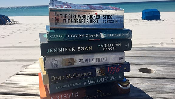 Fill your beach bag, suitcase or hammock with reading material for a quick & free escape.