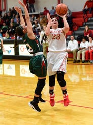 Jenna Strayer helped Bellevue earn its seventh straight Northern Ohio League championship.