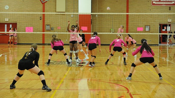 "North Rockland hosted Tappan Zee for its annual ""Volley"