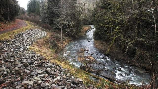 The new Cazadero State Trail in Boring is a relatively easy and flat three miles, flat because it used to hold rail lines carrying passengers and freight between Boring and Estacada before the trestles over Deep Creek burned in the 1930s.
