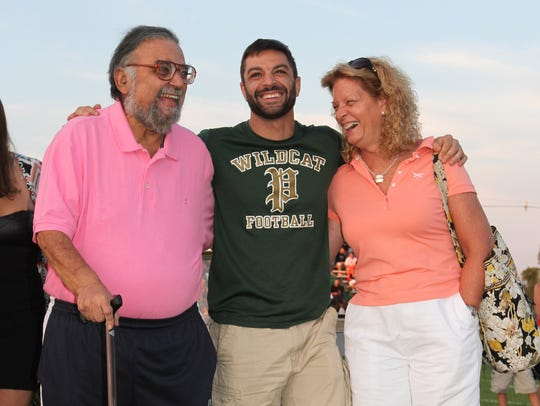 Joe Adelizzi (left), former sports editor for the Asbury