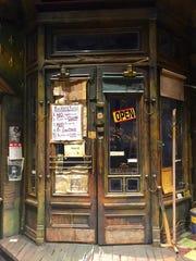 """The front door of David Gallo's """"Jitney"""" set."""