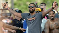 Cleveland Cavaliers guard Kyrie Irving is trying to