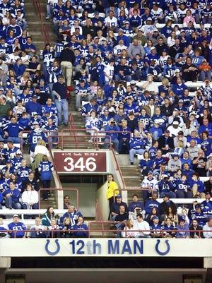 Colts fans were honored with their own spot on the RCA Dome wall as the '12th Man' in 2007. The phrase is on the Lucas Oil Stadium ring of honor as well.