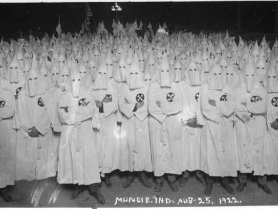 The Ku Klux Klan was active in Muncie and the rest