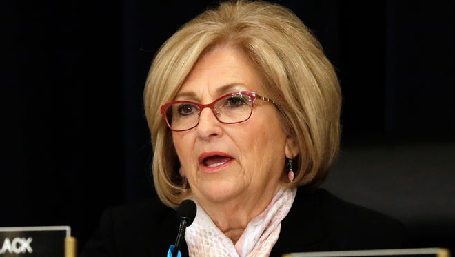 In this May 24, 2017, file photo, Rep. Diane Black, R-Tenn., presides over a House Budget Committee meeting in Washington. Black, who is running for governor of Tennessee, announced Wednesday, Dec. 27, 2017, that she will resign as chair of the House Budget Committee.