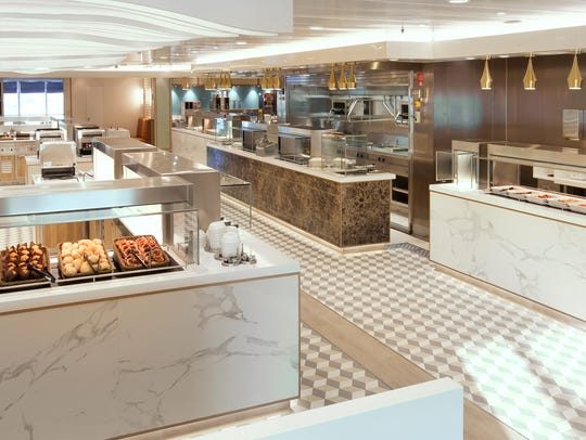The Kings Court casual eatery on Queen Mary 2 now features