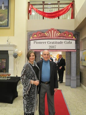 Lantern Hill Executive Director Patricia Jacobs and resident Dr. Phil Eisner at the Pioneer Gratitude Gala on Wednesday, Oct. 18.