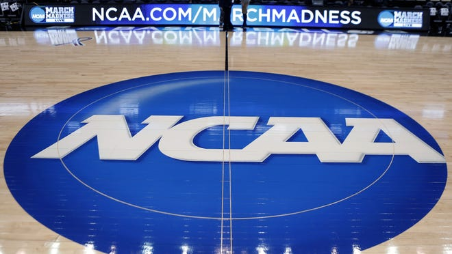 College athletes are warned not to wager on tournament bracket pools.