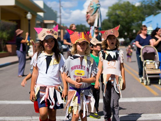 The Monsoon Puppet Theater puppet parade is one of