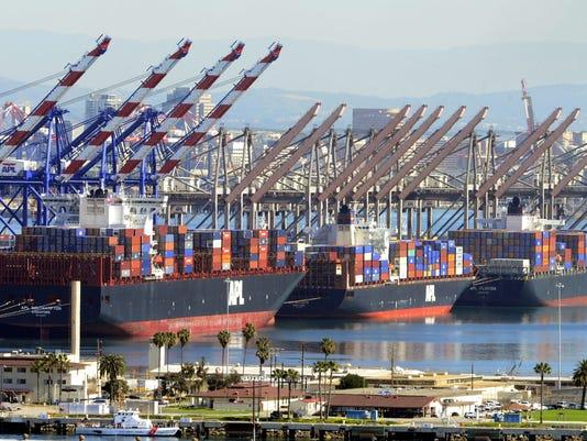 Los Angeles and Long Beach port shut downs