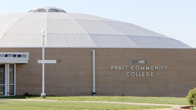 Original floor tile on the gym circle and repairs to the gym roof are part of the ongoing maintenance to the Pratt Community College facility.