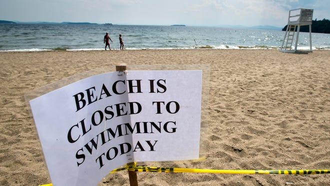 A sign at North Beach in Burlington.