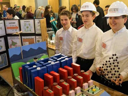 Seventy-seven teams of middle school students from throughout New Jersey met this past weekend to present their solutions to a solid waste management problem for a futuristic city they created in a 2016 Future City Regional Competition held at Rutgers University.