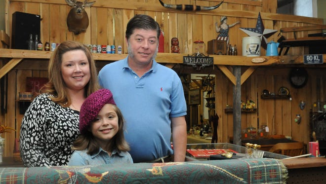 Bryan Fields, owner of Chillicothe Antiques Emporium, his fiancee, Victoria Hooker, and her daughter Rose Holcomb, run Chillicothe Antique Emporium in downtown Chillicothe.