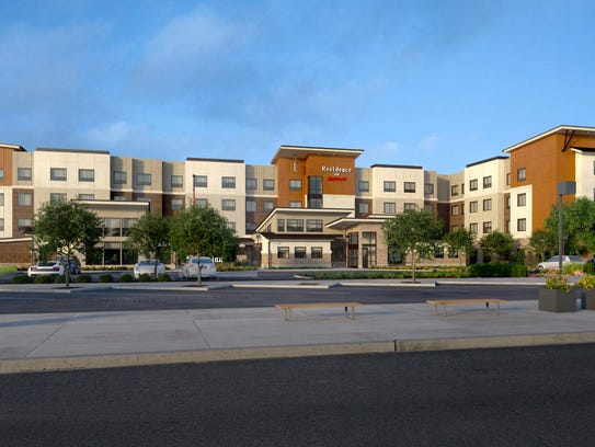 Rendering of Residence Inn at Marriott in the Outlets