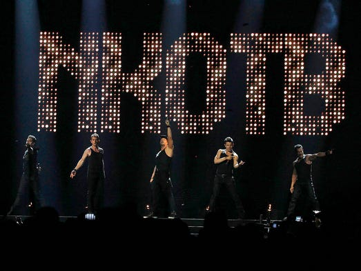 New Kids on the Block perform during The Total Package