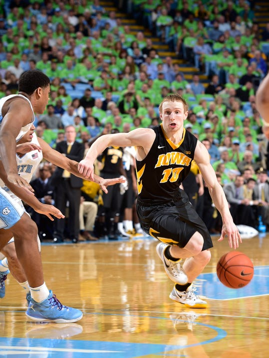 NCAA Basketball: Iowa at North Carolina