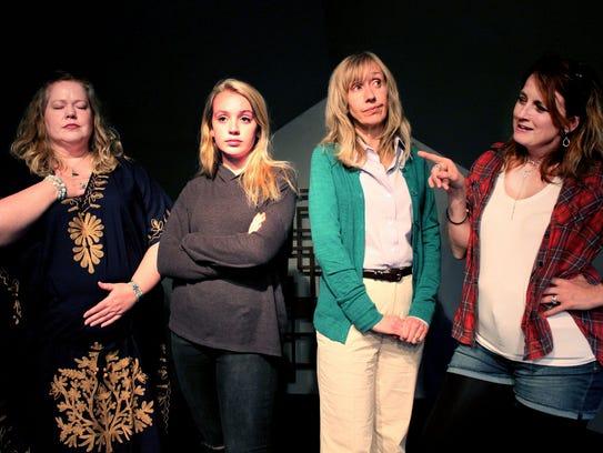 Rachel Agee, left, Virginia Richardson, Laurel Green