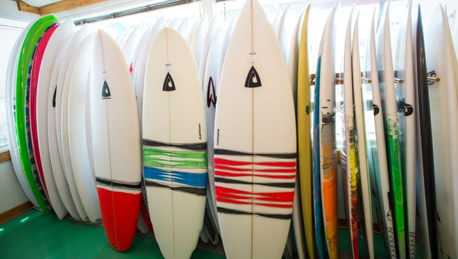 Chauncey's Surf Shop in Ocean City carries boards shaped by Ashton Surf Designs owner Jon Ashton.