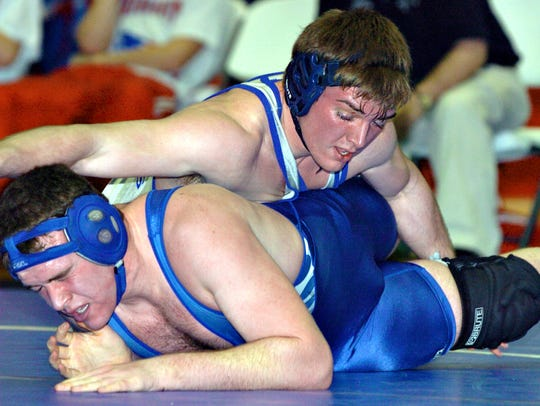 Union County High School's Casey Caldwell (top) was
