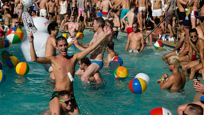 Pool parties, such as this 2013 splash fest at the Renaissance Hotel, continue to be a draw at the White Party Palm Springs.