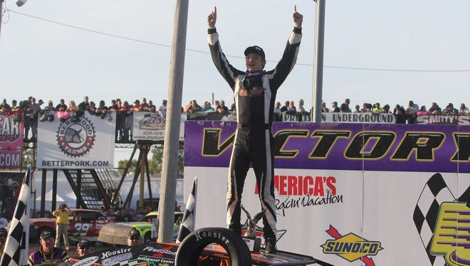 Clintonville High School junior Lucas Lamberies won IMCA's Race of Champions last weekend at the IMCA Supernationals in Boone, Iowa. Lamberies also won IMCA's Wisconsin state championship this year.