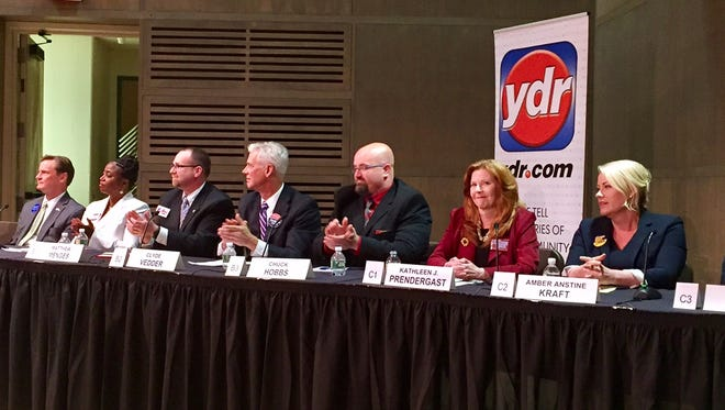 Nine candidates for York County judge met at a forum Wednesday at York College.