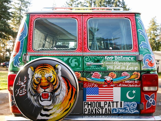 Salem resident Fahd Saeed's 1989 GMV Vandura was painted