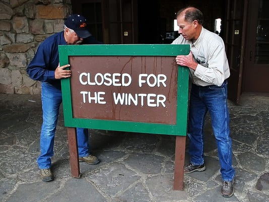 Grand Canyon closes for the winter