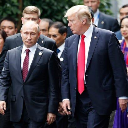 President Trump meets with President Vladimir Putin