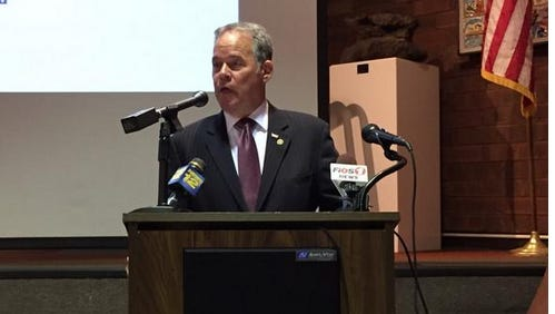 Rockland County Executive Ed Day during his press conference releasing his proposed budget Oct. 16.