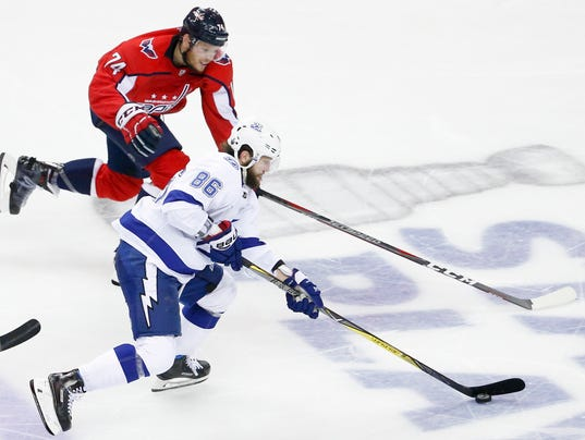 USP NHL: STANLEY CUP PLAYOFFS-TAMPA BAY LIGHTNING S HKN WSH TBL USA DC