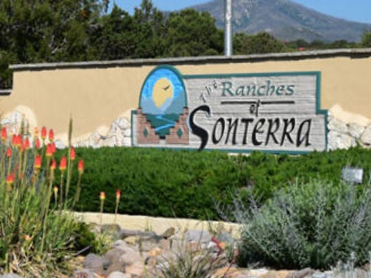 The Ranches of Sonterra entrance is north of Ruidoso on Airport Road.