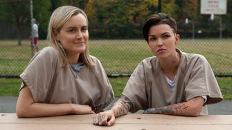 """Taylor Schilling and Ruby Rose in season 3 of Netflix's """"Orange is the New Black."""""""