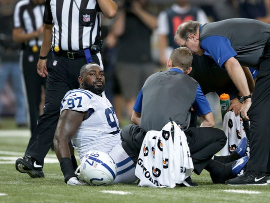 Colts defensive end Art Jones has only had one healthy game in two seasons in Indianapolis.