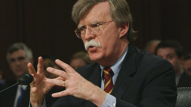 ​​​​​​​President Trump's new National Security Adviser John Bolton was scheduled to be in Monterey Monday as a part of the Leon Panetta Lecture Series.