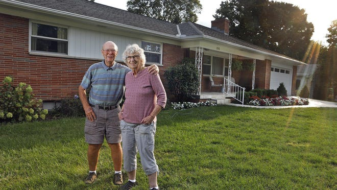 Marlene and Emmett Ersley of Worthington have been in their home since 1968. The average Worthington homeowner has owned his or her home almost 25 years,  according to a new study.
