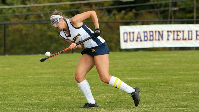Quabbin midfielder and team captain Katie Jablonski led the Panthers in points as a senior and will join the Endicott College field hockey team in the fall.