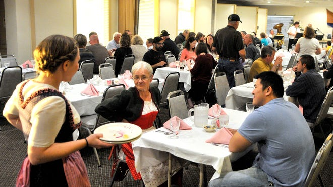 Guests fill the dining room at Michael's Restaurant during an Austrian Independence day celebration, Oct. 24, 2014.