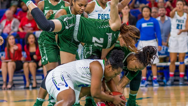 FGCU and Jacksonville have had three consecutive tight tussles that were won by an average of three points. China Dow and her Eagles teammates likely are in for another tough matchup at Jacksonville on Saturday afternoon.