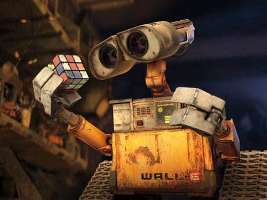 "Did you ever notice that  the plant that grows out of the boot in ""Wall-E"" looks like the tree in ""A Bug's Life?"" (AP Photo/Disney Enterprises and Pixar Animation Studios)"