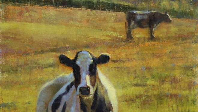"""""""Here Comes The Sun,"""" oil by Elizabeth Pollie, part of the """"Welcome Spring"""" season-opening exhibit at Edgewood Orchard Galleries in Fish Creek."""