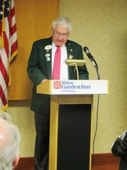John Griffe speaks to the Gettysburg Lions Club.