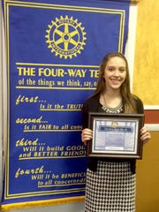 New Oxford-Conewago Valley Rotary Club students of the month of February.
