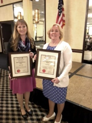 Angela Jordan, third grade teacher at Fawn Area Elementary School, and Mara Parks, paraprofessional at South Eastern Intermediate School, are this year's recipients of the Lauretta Woodson Awards.