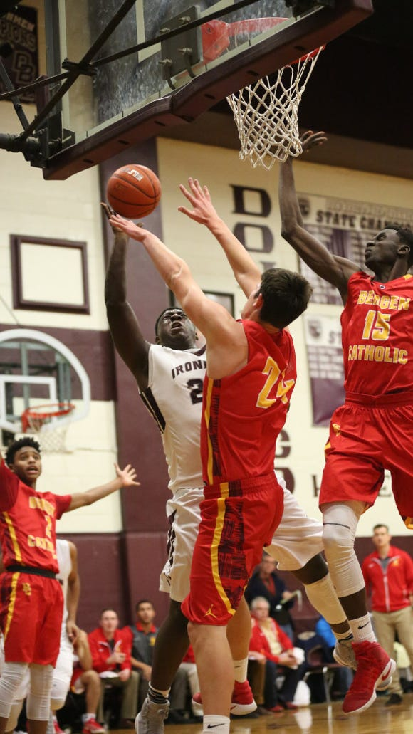 Bergen Catholic (red) and Don Bosco (white) are among the local boys basketball teams competing at Saturday's Mel Henderson Memorial Showcase at Hackensack.