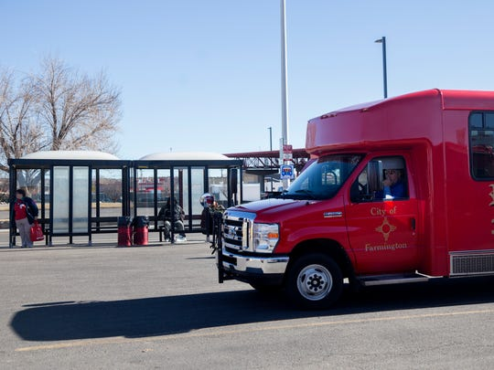 The Red Apple Transit hub at Orchard Plaza in Farmington could be relocated after the completion of a federally mandated operational analysis.