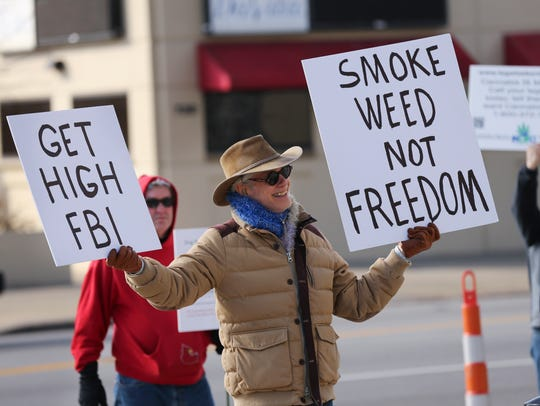 Billy Hower, of the Kentucky Cannabis Freedom Coalition,