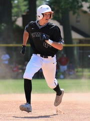 Running the bases for Plymouth is sophomore Anthony